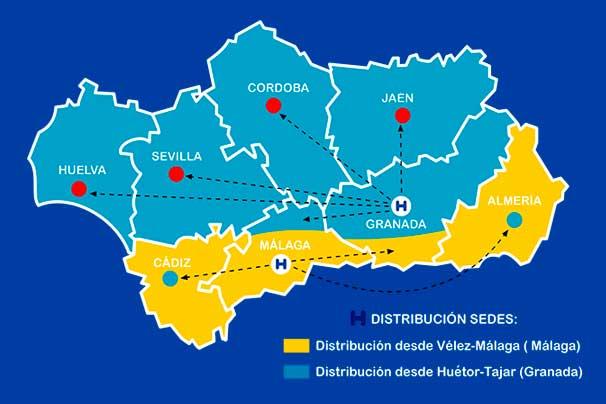 Realizamos envíos a toda Andalucía